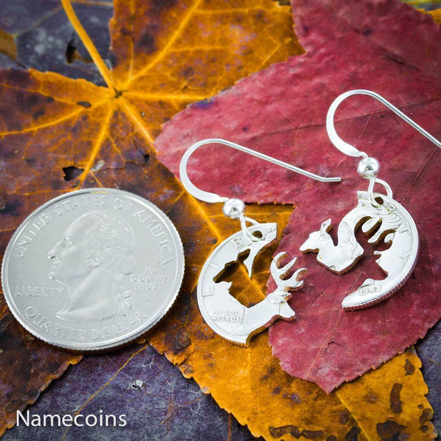 Buck and Doe Silver Earrings by NameCoins