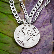 Buck and Doe Couples Necklace with Custom Engraved Names