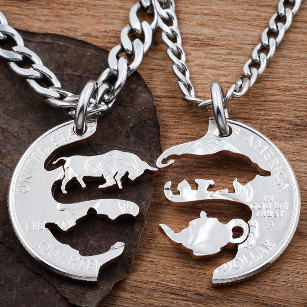 Bull in a China Shop Couples Necklaces