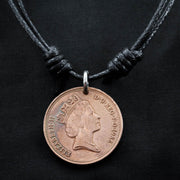 Copper coin Compass necklace with a Kraken Engraved by NameCoins