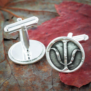 Silver Psychology Cufflinks, Psychiatrist gift, Made from Silver Mercury Dimes