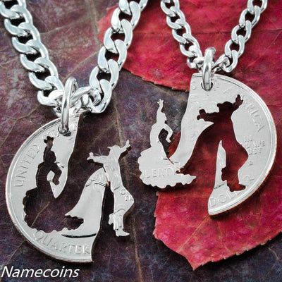 Flamenco Dancing Necklaces, His and Hers