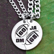 Personalized Jersey Numbers and Initials Football Best Friends Jewelry
