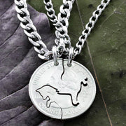 Fox and The Hound Best Friends Necklaces, Dog and Fox, Hunting BFF Gifts