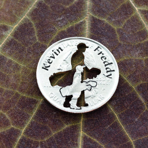 Father and Son Golf Ball Marker, Custom Names, Name Engraved