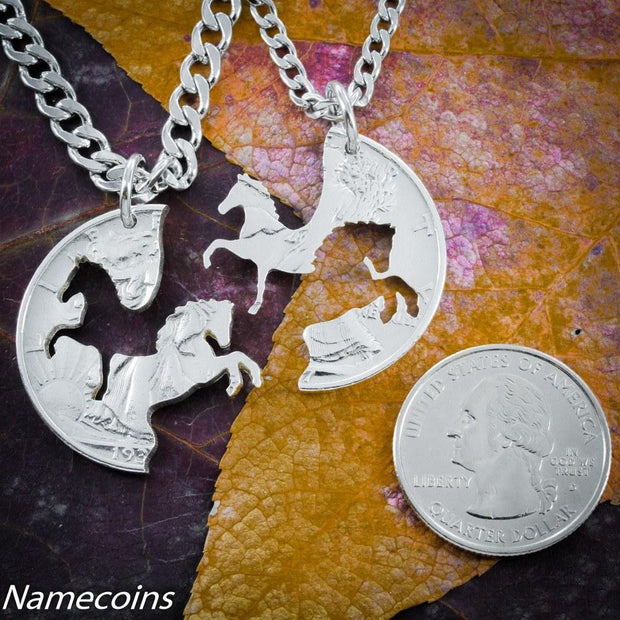 Prancing and Rearing Horse Friendship Necklaces