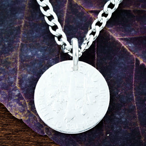 Charging Horse Engraved Necklace, Hammered Silver Charm by NameCoins