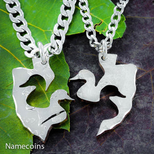 Interlocking Duck Arrowhead Necklace set