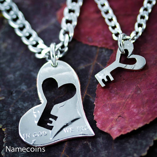 Key to my Heart Necklaces by Namecoins