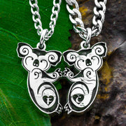 Koalas Hugging Necklaces, Couples or Best Friends Gifts, Koala Bear