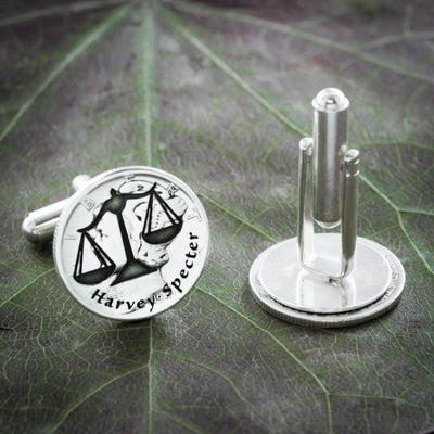 Silver Lawyer Cufflinks, Scales of justice