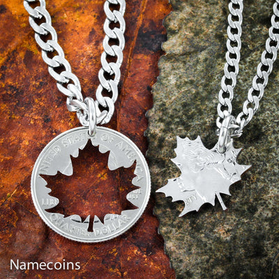Leaf necklaces, Couples or Friends Gift