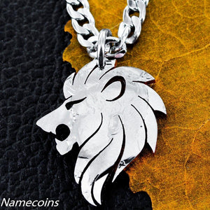 Lion Necklace, coin jewelry