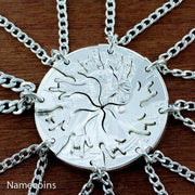 8 Silver Love Necklaces, Family Puzzle Necklaces