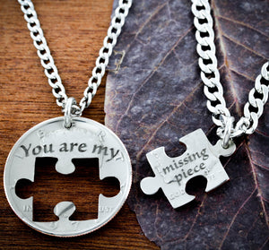 Puzzle Piece Couples Necklaces, You are my missing piece