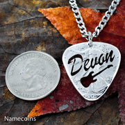 Custom Name Guitar Pick Necklace, Electric or Acoustic