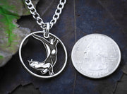 Sea Otter Necklace from a Cut and Engraved Coin