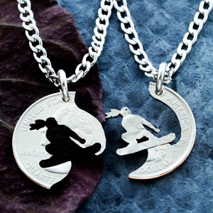 Snowboard Necklace for Girls, Best Friends Forever Necklaces