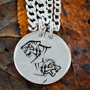 Tiger Best Friend Necklace set, Interlocking tigers