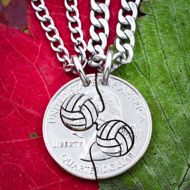 Volleyball Split Necklaces, Best Friends Jewelry