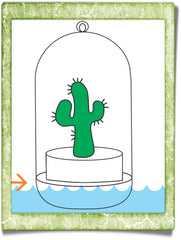 Boo-Boo Pet Plant how to apply water chart