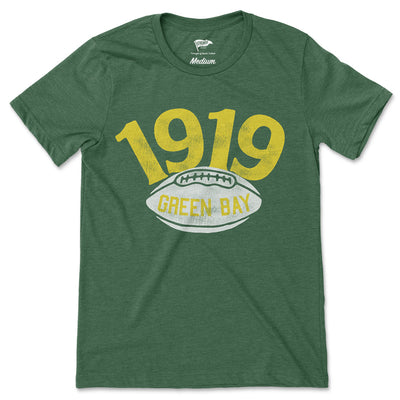 1919 Green Bay Football Founding Year Tee - Streaker Sports