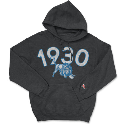 1930 Detroit Football Founding Year Hoodie - Streaker Sports