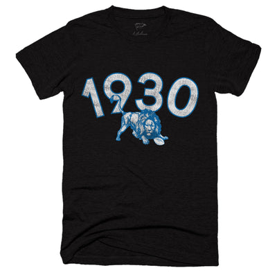 1930 Detroit Football Founding Year Tee - Streaker Sports
