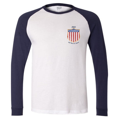 1931 US Tour of Japan Long Sleeve Baseball Shirt - Streaker Sports