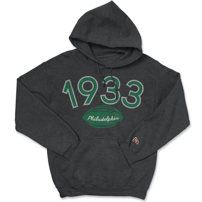 1933 Philadelphia Football Founding Year Hoodie - Streaker Sports