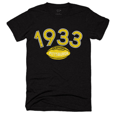 1933 Pittsburgh Football Founding Year Tee - Streaker Sports