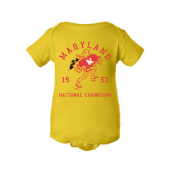 1953 Maryland National Champs Football Onesie - Streaker Sports
