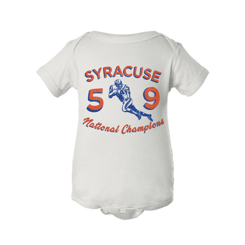 1959 Syracuse National Champs Football Onesie - Streaker Sports