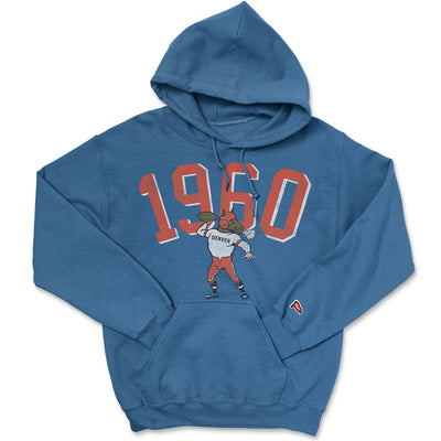1960 Denver Football Founding Year Hoodie - Streaker Sports
