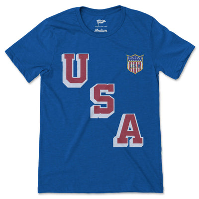 1960 USA Hockey Forgotten Miracle Jersey Tee - Streaker Sports