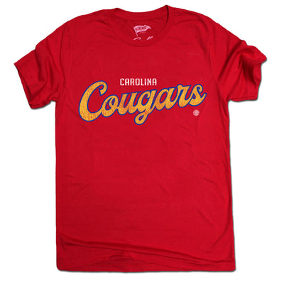 1969 Carolina Cougars Wordmark Tee - Streaker Sports