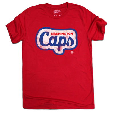 1969 Washington Caps Wordmark Tee - Streaker Sports