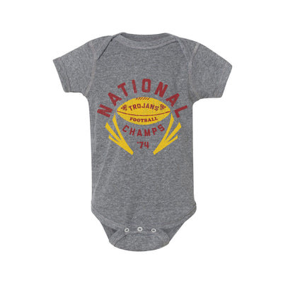 1974 Trojans National Champs Football Onesie - Streaker Sports