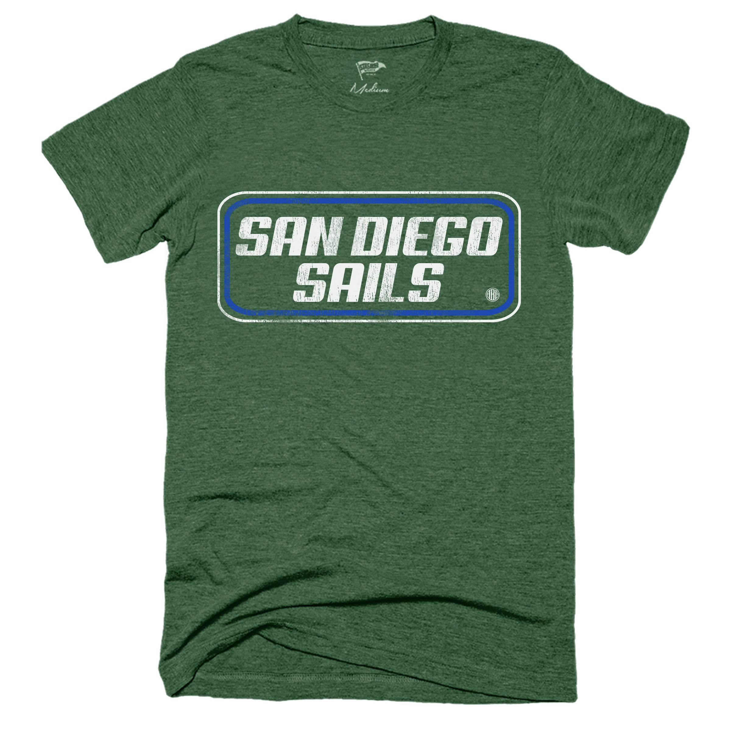 1975 San Diego Sails Wordmark Tee - Streaker Sports