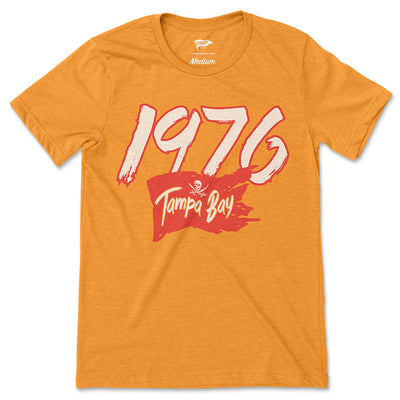 1976 Tampa Bay Football Founding Year Tee - Streaker Sports