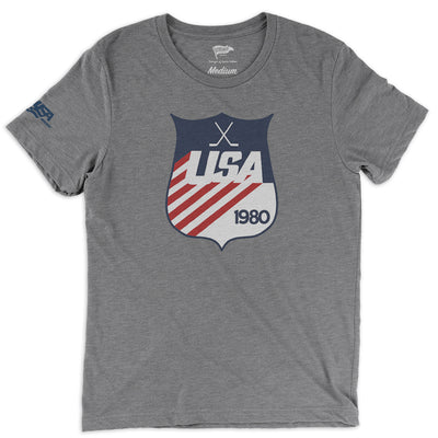 1980 USA Hockey Shield Tee - Streaker Sports