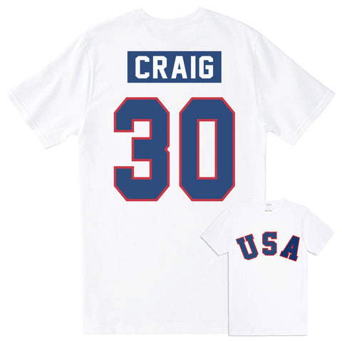 1980 Jim Craig Home Jersey Tee - Streaker Sports
