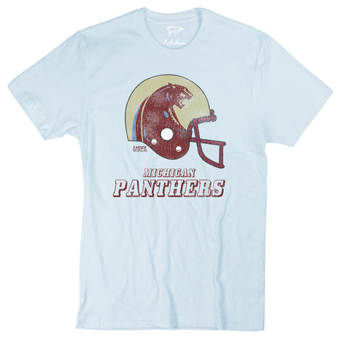 1983 Michigan Panthers Helmet Tee - Streaker Sports