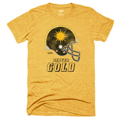 1985 Denver Gold Helmet Tee - Streaker Sports