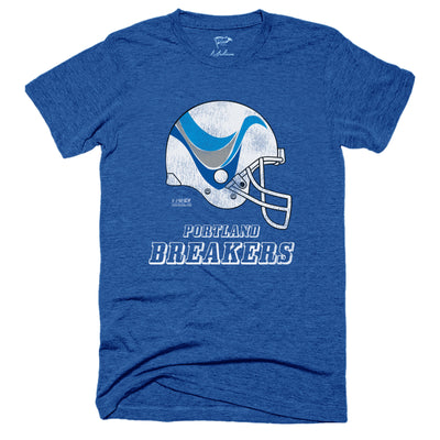 1985 Portland Breakers Helmet Tee - Streaker Sports