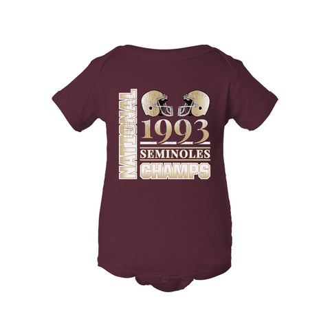1993 Seminoles National Champs Football Onesie - Streaker Sports