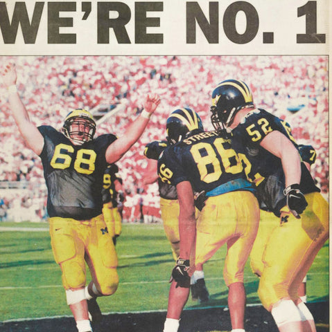 1997 Wolverines National Champs Football Tee - Streaker Sports