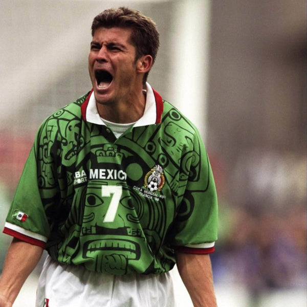 0accf03f7 1998 Mexico World Cup Soccer Jersey 1998 Mexico World Cup Soccer Jersey ...