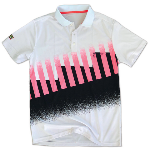 1990 Agassi Tennis Polo - Streaker Sports