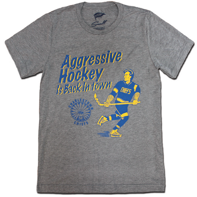 Slap Shot Aggressive Hockey Is Back In Town Tee - Streaker Sports